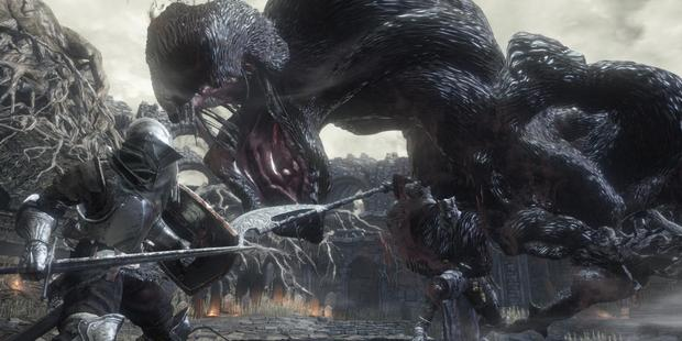 A scene from the video game Dark Souls III.