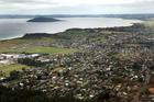 An aerial view of Rotorua's eastern suburbs.