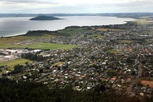 Aerial view of Rotorua's eastern suburbs.  Photo/File