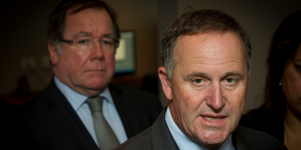 Prime Minister John Key and Foreign Minister Murray McCully will start campaigning in force for former rival Helen Clark this week. Photo / Sarah Ivey
