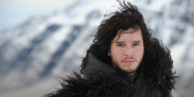 Loading Kit Harrington as Jon Show in the TV show Game of Thrones.