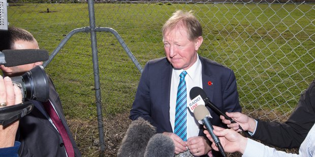 Nick Smith took media on a tour of Auckland last year to inspect some of the publicly owned land to be turned into housing. Photo / Nick Reed