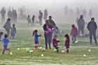 Kids' football at Puarenga Park. PHOTO/FILE