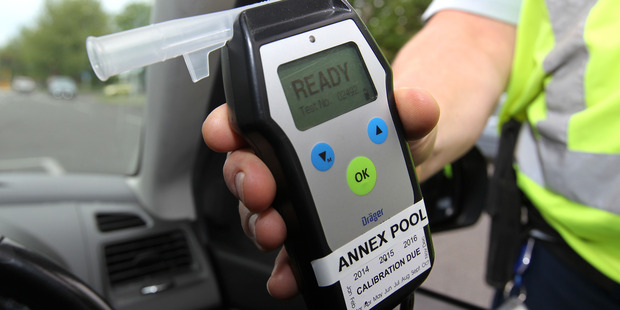 An evidential breath test showed 1623 micrograms of alcohol per litre of breath. Photo / Duncan Brown