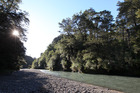 The site of the proposed 80-metre Ruataniwha Dam, over the Makaroro River.