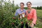 James and Mandy Ostergren with their award-winning cider. Photo / Warren Buckland