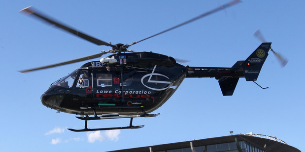The Lowe Corporation Rescue helicopter.