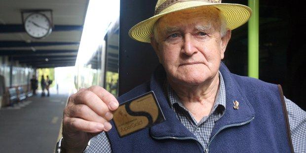 George Groombridge of Masterton with his SuperGold Card at Masterton railway. PHOTO/FILE