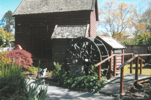 An outdoor area at Cobblestones Museum in Greytown.