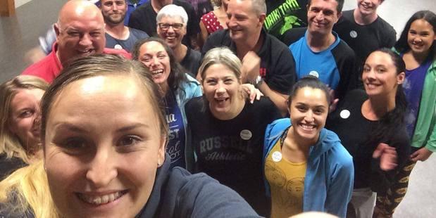 SELFIE: Dancing with Rotorua Stars first practice. PHOTO/KYRA DAWSON