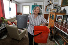Roberta Fraser, Waipawa, no longer needs buckets to catch the leaks in her home after her roof was replaced with the help of Waipawa and Districts RSA. Photo / Duncan Brown