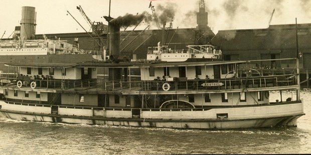 The Kestrel was launched in Auckland in December 1905 to service the Auckland to Devonport ferry run. Photo / File