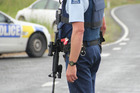 Armed police from Whangarei and Kawakawa stopped all cars entering and leaving the Karikari Peninsula while searching for the man. Photo / Peter de Graaf