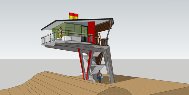 REBUILD: An artist's impression of Waimarama Surf Life Saving Club's new watch tower. Construction starts in a few weeks. IMAGE/SUPPLIED.