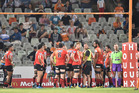 A general view of action during the Super Rugby match between Toyota Cheetahs and Sunwolves. Photo / Getty Images.