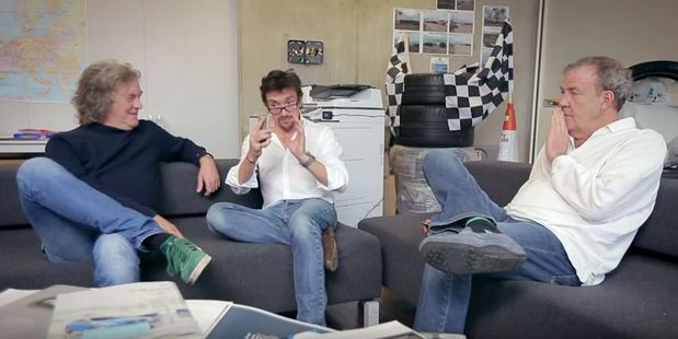 Former Top Gear hosts trying to decide on a name for their new show.