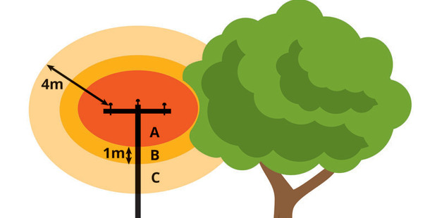 'Growth Limit Zone', which explains how far trees must be from power lines.
