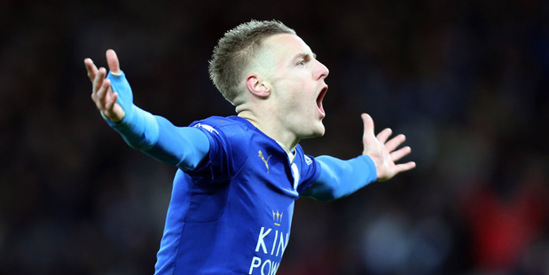 Leicester City striker Jamie Vardy. Photo / Getty Images.