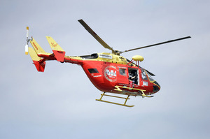 The Auckland Westpac Rescue Helicopter was sent to Dairy Flat about 8.30am to treat the man, aged in his 40s. Photo / File