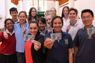 Members of Rotorua Lakes Youth Council with Rotorua Lakes councillor Tania Tapsell with the new Rotaz 2016 Youth Card. Photo/Supplied