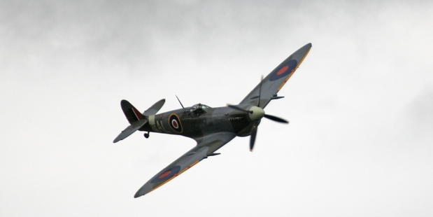FLY BY: This restored Supermarine Spitfire will feature in the skies for Anzac Day.