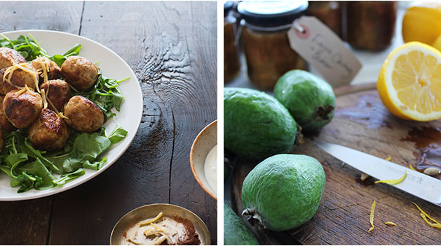 Meatballs for Monday night's dinner and a feijoa and lemon chutney star in this week's Bite. Photos / Bite magazine