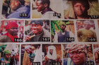 A 'Most Wanted' poster depicting alleged Boko Haram' fighters, in Maiduguri, Nigeria. Photo / The Washington Post by Jane Hahn.