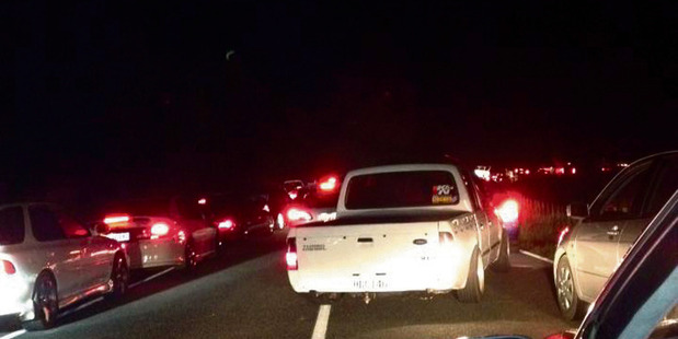 There were so many cars, drivers split into smaller groups and even then some roads were backed up with traffic for several hundred metres. PHOTO/FACEBOOK