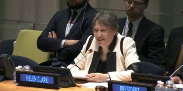 Loading Helen Clark was grilled for more than two hours by General Assembly representatives in New York. Photo / UN webcast