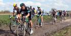 Paris-Roubaix 2016 Cycle Race winner Australian Matthew Hayman, left. Photo / Getty