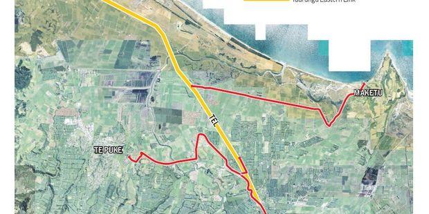 Proposed Te Puke - Maketu cycleway.