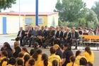 Pohiri at Te Kura Kaupapa Motuhake o Tawhiuau to welcome guests for the new confucius classroom.