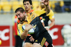 Dane Coles runs in for a try against the Jaguares. Photo / Getty