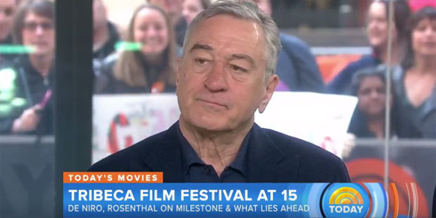 Loading Robert De Niro says his son changed overnight after he was given a vaccine. Photo / Screengrab / Today Show