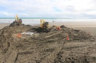 It took the team of 25 submarine cable experts a week to bury the cable 3 metres beneath the sand, leaving no lasting impact to the beach at Raglan. Photo / Supplied