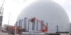 Watch: Auckland dome almost ready to house cement