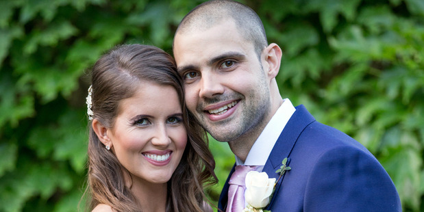 Erin and Bryce met for the first time on their wedding day but were instantly attracted to one another.