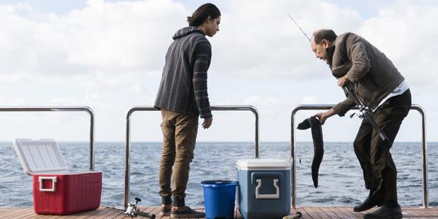 A scene from the second season premiere of Fear the Walking Dead.