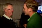 Sir Alex Ferguson tells David Willett he lost a large sum of money as a result of Willett's win. Photo / BBC
