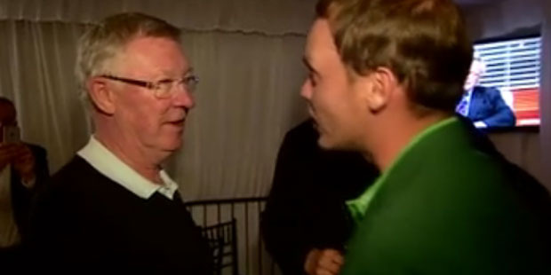 Loading Sir Alex Ferguson tells David Willett he lost a large sum of money as a result of Willett's win. Photo / BBC