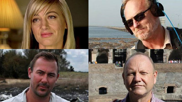 "Clockwise from top left: Tara Brown, David ""Tangles"" Ballment, Stephen Rice and Ben Williamson. Photos / Facebook"