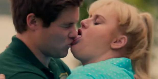 The scene from Pitch Perfect 2 that won best kiss for Rebel Wilson and Adam Devine at the MTV Movie Awards.