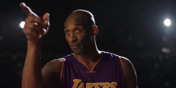 Loading Kobe Bryant appears in a Nike ad before in his final NBA game. Photo / YouTube