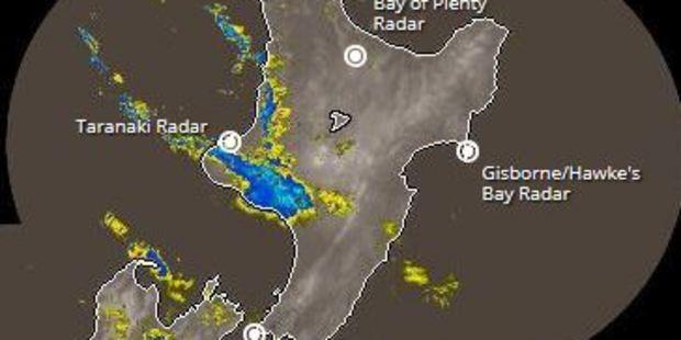 The rain radar. Photo / MetService