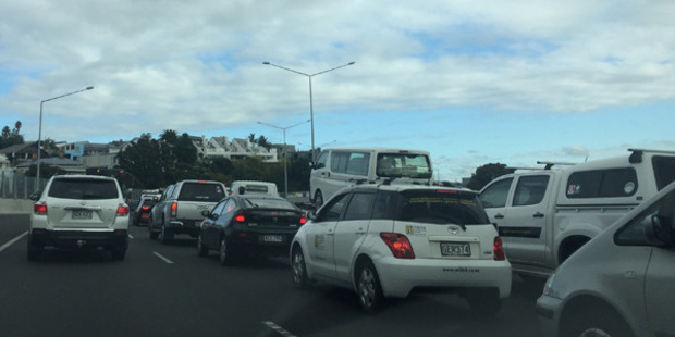 "One motorist said: ""We are barely even crawling"". Photo / Supplied"