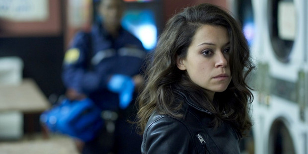Sarah Manning, played by Tatiana Maslany, is probably up to no good on Orphan Black. Photo / Ken Woroner, BBC America