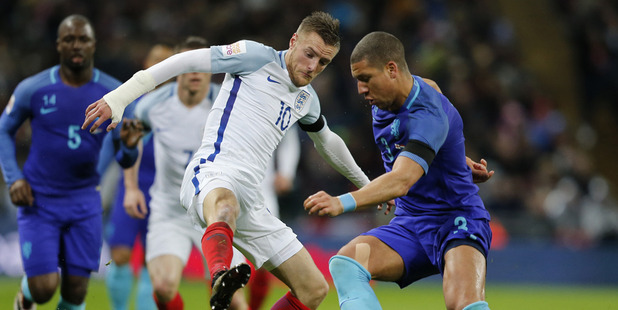 England's Jamie Vardy will look to take his Premier League into the European Championships. Photo / AP