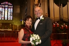 The union of Carina Lai and Kevin Watkins on Saturday was
