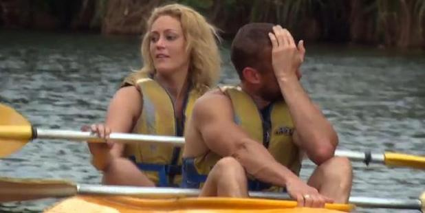 Loading Married couple Clare and Jono on the TV show Married At First Sight.