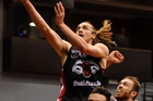 Justin Graham of the Canterbury Rams lays up during an NBL Basketball match. Photo / Photosport